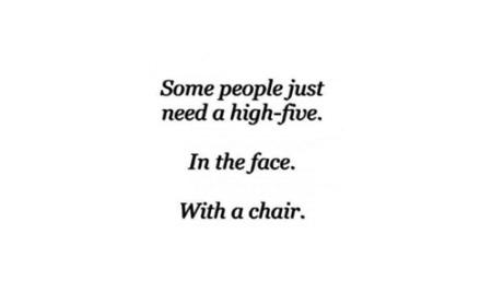 highfivechairface